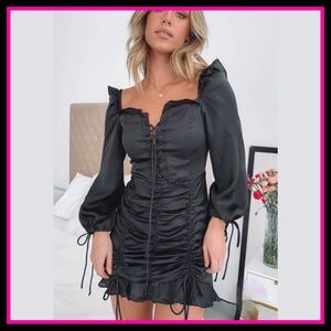 NWT LIONESS Feng Shui Black Mini Dress